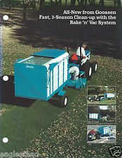 Equipment Brochure - Goosen - Rake'n'Vac Vacuum Clean-up System c1989 (E2998)