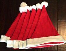 Adult Felt Santa Claus Hat - 6 Hats