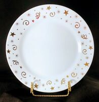 New Pampered Chef Party Plates Dessert Appetizer White Gold Stars Wedding Discon