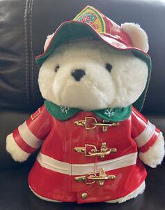Dayton Hudson Firefighter Santa Bear 1996 a Great Gift for Your Favorite Fireman