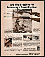 1973 BROWNING 78 and BAR Rifle PRINT AD w/ original prices