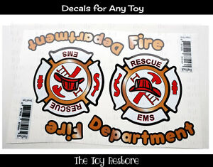 Toy Restore Decal Stickers Fire Truck Engine for Car Firetruck Custom Cozy Coupe