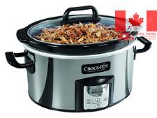 Crock-Pot SCCPVC400P-033 Oval Programmable Slow Cooker 4 Quart Stainless