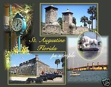 Florida - ST AUGUSTINE (Collage) Souvenir Fridge Magnet