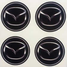 4x 45 mm fits MAZDA wheel STICKERS center badge centre trim cap hub alloy