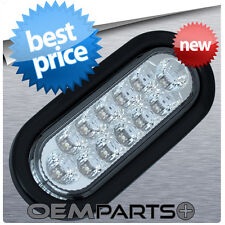 """1X NEW 6"""" LED CLEAR WHITE OVAL SEALED REVERSE BACK-UP LIGHT TRUCK TRAILER RV"""