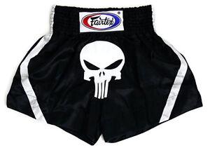 Fairtex Muay Thai Shorts BS96 Alien Skull, Satin, For Boxing, Kick Boxing, MMA