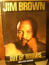 Out of Bounds, Jim Brown (1989) HC.DJ.1st Printing. Signed Ed. Near Fine Cond.
