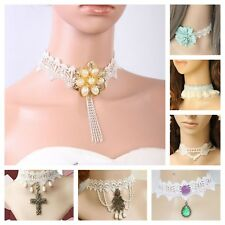 Necklace Choker Lace Jewelry White Bridal Wedding Brides Casual Wear
