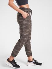 ATHLETA Camo Farallon Jogger 0P XSP XS PETITE Black Olive Green Pants (2020) NWT