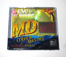 """One (1) Minidisc BASF MD """"MAXIMA Gold"""" MD-74 '1999 (new and sealed)"""