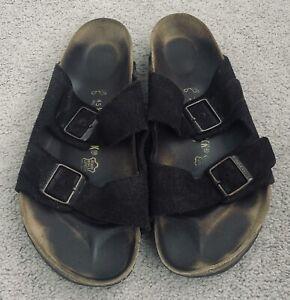Men's BIRKENSTOCK Arizona Mocha Suede Leather Sandals Size 45 US 12