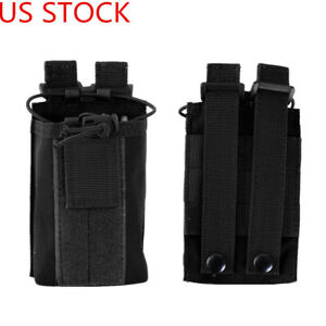 US Molle Outdoor Radio Walkie Talkie Holder Tactical Mag Pouch Military Bag