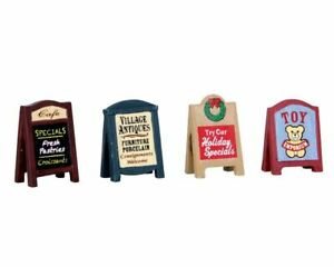 Lemax Christmas Village Signs 64071 Set of 4 Accessory