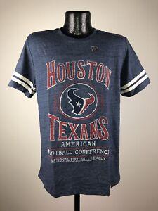 Men's NFL Junk Food Houston Texans Navy Blue NFL Football Cotton Tee NWT L