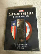 Captain America Trilogy 1, 2, 3 Box Set 3-Movie Collection DVD Brand New!