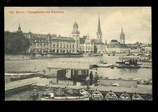 Switzerland ZURICH Postgebaude Stadthaus Boats early PPC