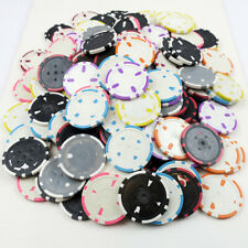 250 x Diamond Style 11.5g ABS Composite Poker Chips PRINT PRODUCTION REJECTS