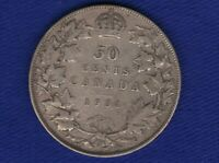 80% Silver 1931 Canada 50 Fifty cent Coin Canada Half Dollar George V