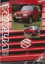 Suzuki Vitara 1.6 Soft Top Utility 1989 Original UK Sales Leaflet Brochure