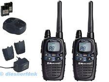 Midland G7 PRO PMR LPD Dual Funkgerät 2 Geräte Akku & Doppel Lader bis 10Km 3W
