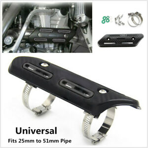 Motorcycle Exhaust Pipe Carbon Fiber Cover Protector Heat Shield Anti-scalding