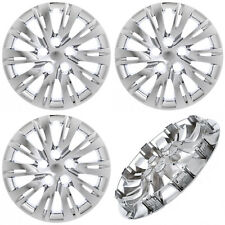 "4PC fits TOYOTA CAMRY 2007-17 16"" Inch CHROME Hub Caps Cover for Steel Wheel Cap"