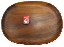 Oval Serving Dish Platter Tray Teak Wood Large 41 x 31.5 cm