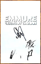 EMMURE Look At Yourself 2017 Ltd Ed Signed By All 4 Members RARE New Poster!