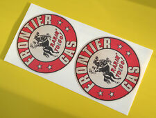 HOT ROD Retro worn 'FONTIER GAS' vintage style GAS AND OIL Sticker Decal Chevy
