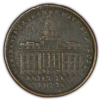 Hard Times Token - Wall Street Burnt 1835 - Not One Cent For Tribute - SKU-X1416