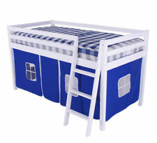 Beddybows Shorty Mid Sleeper Cabin Bed Frame - Blue/White
