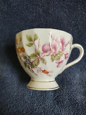 Tuscan China Cup - Pink With Pink Floral