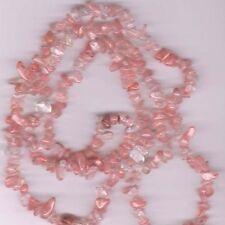 "pink strawberry cherry quartz glass beads strand glass chips 34""-36"" strand chip"