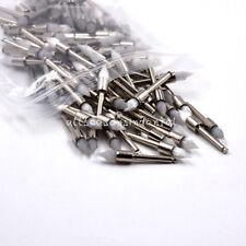 100 Pcspack Dental White Nylon Prophy Brush Tapered Type Polishing Brush Latch