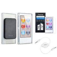 Claro TPU Funda Con Cinturon Protector+Blanco Audio Cable Para iPod Nano 7 7G