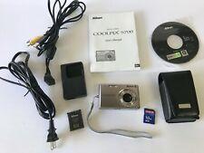 Nikon COOLPIX S700 Silver Point & Shoot Digital Camera BUNDLE