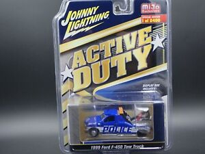 JOHNNY LIGHTNING 1999 FORD F-450 POLICE TOW TRUCK  ACTIVE DUTY MiJo EXCL 1/2400