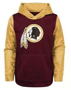 New NWT L/S Washington Redskins Hoodie Sweatshirt Youth Boys Size XS X-Small 4/5