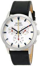 NEW Jack Spade WURU0106 Men's Barrett Analog Chronograph White Dial Black Watch