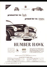 "1954 HUMBER HAWK ROOTES GROUP AD A1 CANVAS PRINT POSTER 33.1""x23.4"""