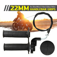 ATV Dirt Pit Bike Throttle Accelerator Grip Twist Cable Kit 50cc 90 110 125cc