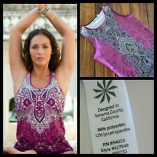 Athleta Purple Paisley Sleeveless Top Yoga Workout Shirt Exercise Womens Small S
