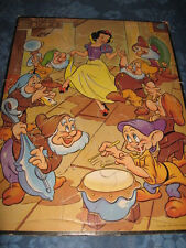 1950 Walt Disney Snow White & the 7 Dwarfs Inlaid Board Tray Puzzle