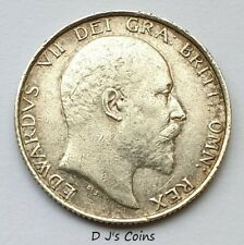 More details for 1902 king edward vll silver .925 shilling coin. high grade with good detail.