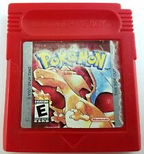 Pokemon Red Version Nintendo Game Boy Cleaned & Good Save Battery Acceptable!