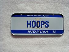 1988 INDIANA Post Cereal License Plate # HOOPS