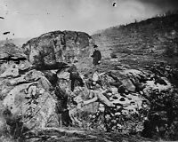 New 8x10 Civil War Photo: Casualties Litter Devil's Den, Battle of Gettysburg