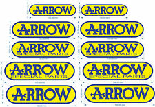 2 Adhesives Arrow Heavy Duty The Heat Special Parts Silencer Motorcycle Stickers