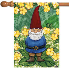 NEW Toland - Garden Gnome - Cute Green Yellow Flower House Flag